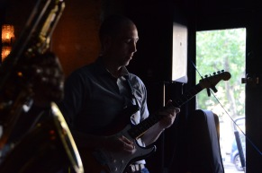 Playing the blues in Paris.