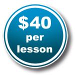 $40 per lesson